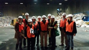 HV Shred President tours single stream recycling plant with Chamber Green Committee